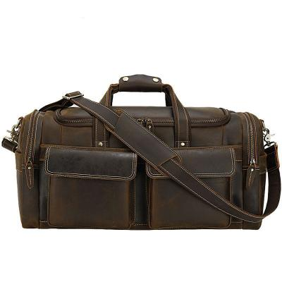 Men Calf Leather Large Capacity Travel Bag