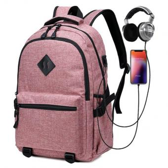 USB Charge Port Computer Bag Daily Backpack Headphone Jack Wholesale Men Women Laptop Backpack - ORSTAR